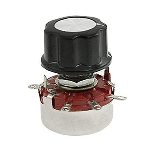 LAANYMEI Interruptores de Palanca Resistor Variable 470K Ohm 2W Potes de Alambre rotativo Potenciómetro Potenciómetro WTH118