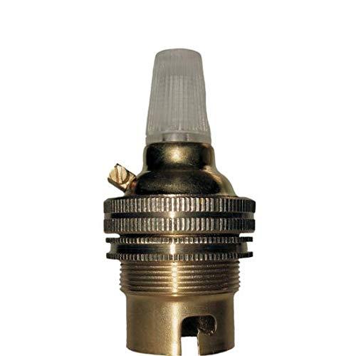 Tapa de bayoneta (B22) Soporte de lámpara en latón con anillo de...