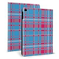 KUKUYE iPad Air 10.5 ケース (2019モデル) Apple Pencil 収納可能 スタンド機能 iPad Air3 10.5 インチ (2019新型) 保護カバー 軽量 薄型 傷つけ防止タータンチェック青と赤