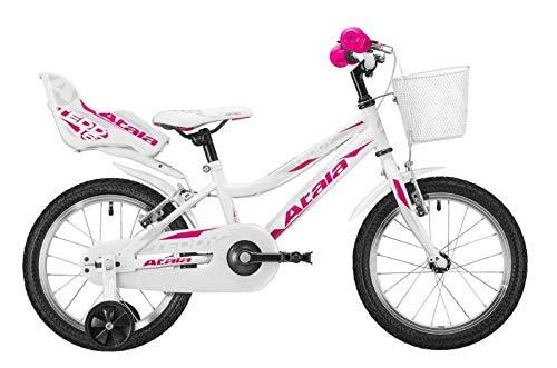 Atala Nuovo Modello 2020 Bicicletta da Bambino Teddy Girl, Colore Bianco, Altezza Massima 120cm,...