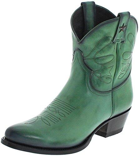 Mayura Boots Dames Cowboy laarzen 2374 Verde lederen laarzen lederen schoenen groen