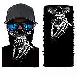 Pañuelo 3D para el cuello, la cabeza, ciclismo, multifunción, cinta para la frente, resistente al viento, para moto, esquí, snowboard, pasamontañas, Halloween