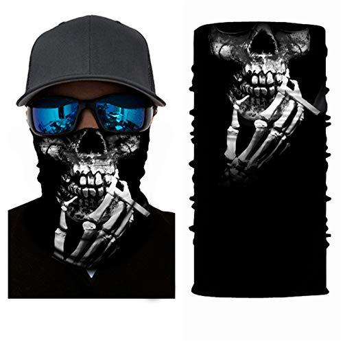 SendYouShine Sommer Hochelastische 3D Halstuch Kopftuch Radfahren Multifunktionstuch Stirnband Winddicht Motorradmaske Skifahren Kopf UV-Schutz Neck Gaiter Bandana für Herren Damen Kinder S31