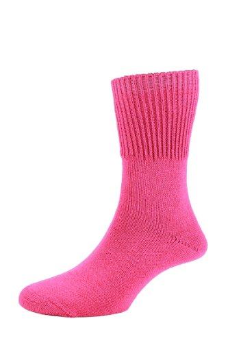 HDUK Socks HJ Hall hj2413Super Soft Sanitized Bedsocks/UK Größen 4bis 13(1Paar) Gr. Medium, Rosa - Fuchsia