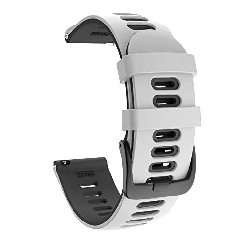 ISABAKE 22mm Cinturino Sportivo Sostitutivo in Silicone Morbido per Samsung Galaxy Watch 46mm Garmin Vivoactive 4 Active Gear S3 Frontier S3 Classic Huawei Watch GT2 Ticwatch Pro S2 E2