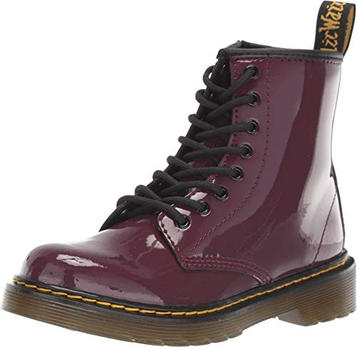 Dr. Martens Kid's Collection Girl's 1460 Patent (Little Kid/Big Kid) Plum Patent Lamper 3 UK (US 4 Big Kid)