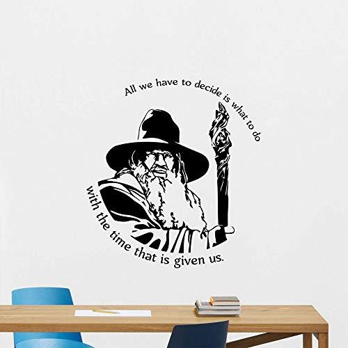 YIYEBAOFU Troll Muurstickers voor meisjes Bier Gandalf Citaat Muurtattoo Vinyl Wooncultuur voor kinderkamer Poster Muursticker verwijderbaar muurschildering