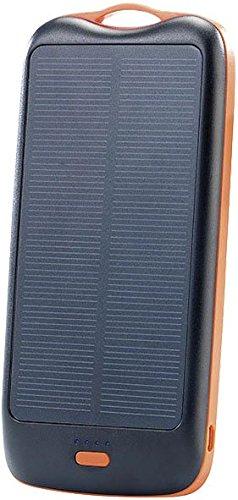 revolt Zusatzakku: Solar-Powerbank PB-100.s mit 10.000 mAh, Ladestand-Anz, 2X USB (Solar-Powerbank Outdoor)
