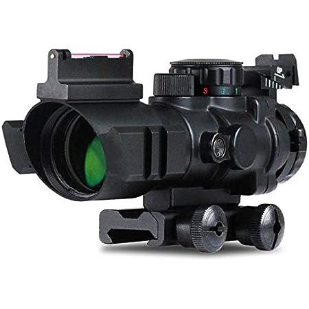 Very100 Zielfernrohr 4x32mm Leuchtpunktvisier Mit Fiberoptic Red Green Dot Visier Zielger T Sport Freizeit