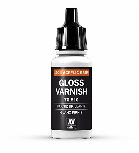 War World Gaming Vallejo Auxiliaries Gloss Varnish 70.510 - Wargame Miniature Figure Painting Assortment Modelling Wargaming Hobby Tabletop Model Paint Collection