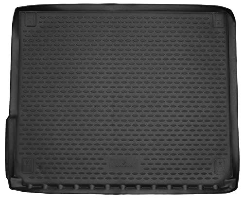 Walser Cubeta de Maletero a Medida XTR Compatible con VW Touareg, Aire Acondicionado de Doble Zona 2010-2018, Alfombra Maletero