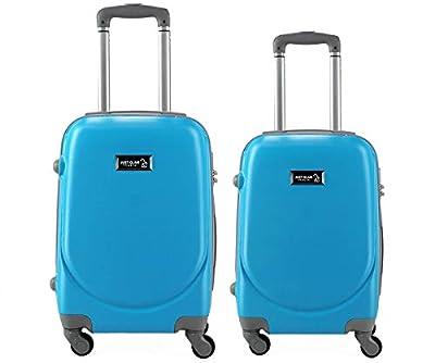 Valise bagage cabine 50cm et 55 cm - Trolley ABS ultra Léger - 4 roues pour voler avec EasyJet - Ryanair art 6802