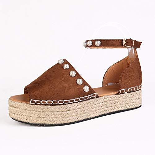 Zapatos romanos con base gruesa, sandalias, plataforma de ante y sandalias, retro, sandalias, primavera, verano, para fiestas al aire libre, fiestas, veladas