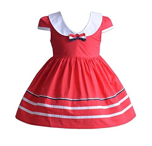 Cinda Robe en Coton bébé Fille Rouge 6-9 Mois