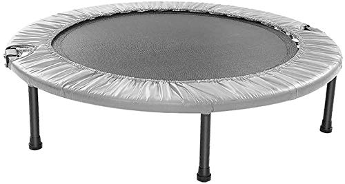 YIHGJJYP Mini Trampoline Set with Padding Garden Children's 40' exercise for children foldable indoor round fitness rebounder adults home gym slimming equipment trampolines Grey