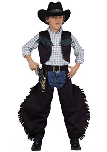 FIORI PAOLO–Vaquero Pistolero negro disfraz niño L (7-9 anni) Verde