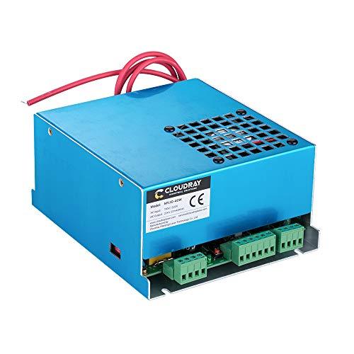 Fuente de alimentación láser de CO2 Cloudray MYJG 40W 220V para máquina cortadora de grabado láser CO2