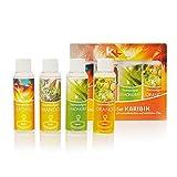 Saunaaufguss Set'Karibik' | KK Saunakonzentrat | 4 x 100 ml/Flasche | Saunaduftset | Geschenkbox | Sauna Set |