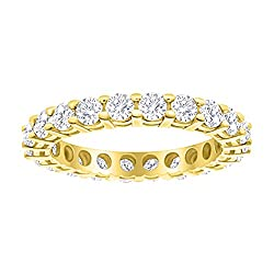5 Carat (ctw) 14K White Gold Round Diamond Ladies Eternity Wedding Anniversary Stackable Ring Band
