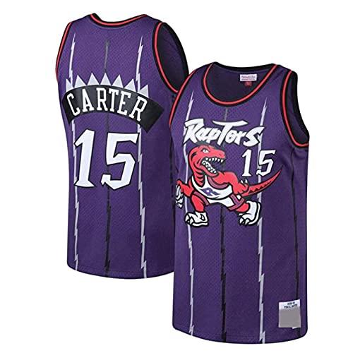 SHUWNSJ Ropa De Baloncesto, Toronto # 15 Vince Carter # 1 Patrick Mccaw Camiseta De Mujer para Hombre Chaleco Transpirable De Baloncesto Camiseta Deportiva De Swingman (C,X-Large)