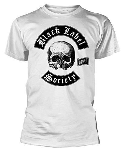 Black Label Society 'Skull Logo' (White) T-Shirt (Medium)
