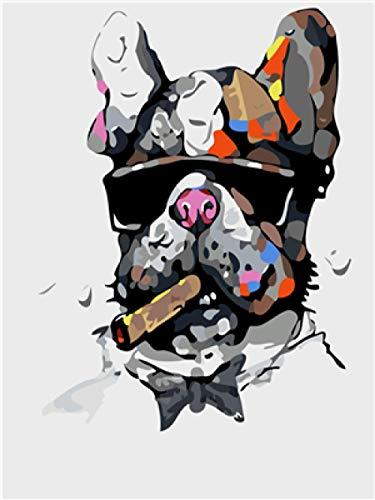 Verf door cijfers Kits Gangster Schilderij Schilderij Muurschilderingen Afbeelding Tekenen met Borstels Decor Decoraties Geschenken (Zonder Frame) 40 * 50