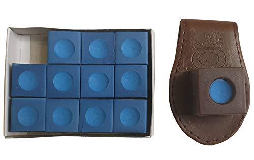 John West - Set di 12 gessetti da biliardo, colore: Marrone