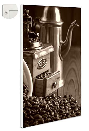 b-wie-bilder magneetbord prikbord magneetwand koffiemolen kan 80 x 100 cm sepia