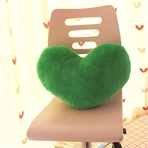 Amyseller Cojín de peluche con forma de corazón verde para niños, decoración de Navidad, para niños