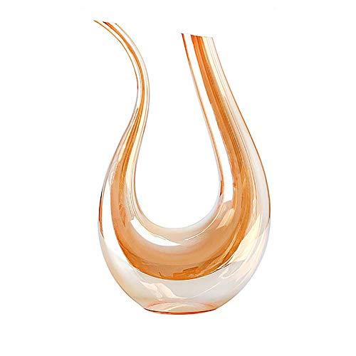 UKE Copa De Vino Decanter, Forma 1500ML T Elegante Vaso De Vino Decanter Mejora del Sabor del Vino Más Suave 100% Libre De Plomo Cristalina Superior De Cristal para Los Regalos del Vino