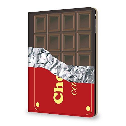 PLUS-S iPad Air 第4世代 10.9インチ 2020 用 ケース 手帳型 チョコレート 板チョコ 【01.(新)TYPE1 ミルクチョコ】 PUレザー スタンド機能 カメラホール 角度調節