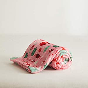 Uozzi Bedding All-Season Flannel Fleece Baby Blanket for Girls & Boys – Ultra Soft Plush Thin Kids Toddler Blanket for Crib, Pram Strollers, Sofa, 100% Microfiber Polyester