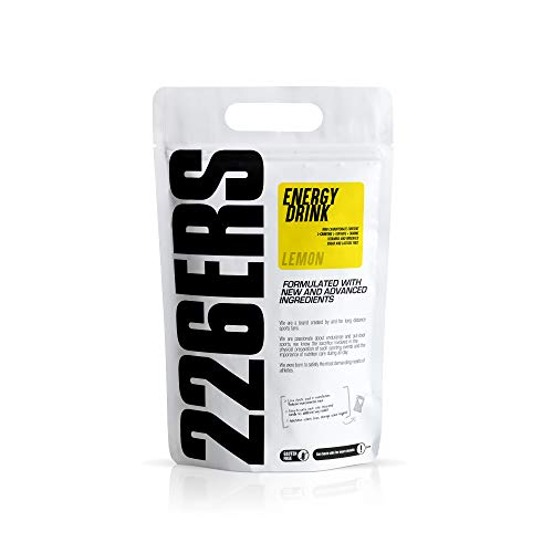 226ERS Energy Drink | Bebida Energética con Amilopectina, Taurina y L-Carnitina, Sin Gluten y Sin Lactosa, Limón - 1000 gr