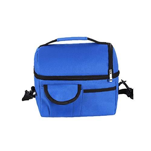 Isolato Cooler Bag Lunch Box raffreddamento Borsa con il seno Borsa Pompa con 2 isolato alla modularità Tracolla per il picnic di campeggio Beach da lavoro blu