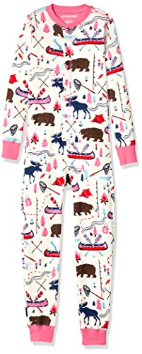 Hatley Little Blue House by All in One Union Sleepsuits Grenouillère, Blanc (Pretty Sketch Country 100), 2 Ans (Taille Fabricant: 2) Fille