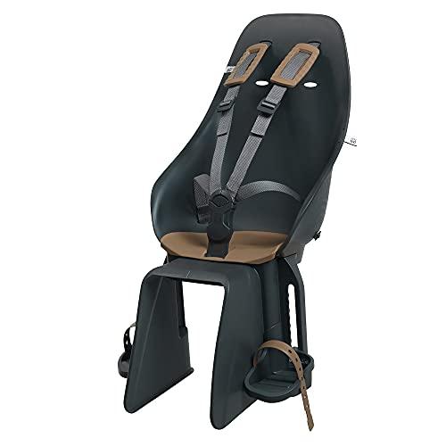 Urban iki Rear Seat with Frame Mount Siège arrière avec Support de Montage Mixte bébé, Bincho Black/Kurumi Brown V2, Taille Unique