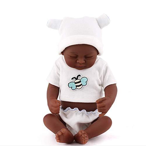 NMQQ Reborn Babypuppen Weiche Silikon Vinyl Cosplay Lebensechte Geschlossene Augen Puppe Neugeborene Realistische Babys Spielzeug Geschenk