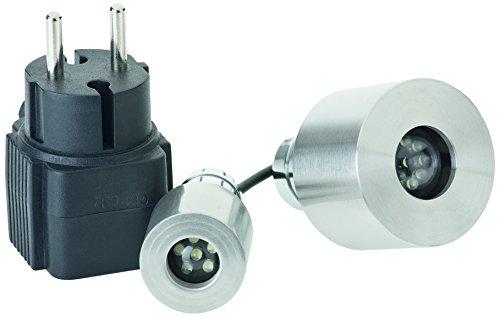 OASE 50114 LunaLed 6 Stück - Quellsteinbeleuchtung und Unterwasserbeleuchtung mit kaltweißen Leuchtdioden für Wasserspiele im Teich, Brunnen, Garten und Außenbereich