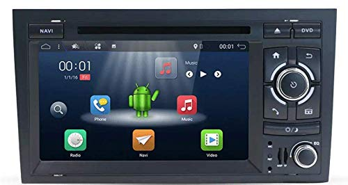 7 in Android 7.1 Auto GPS Stereo Indash GPS TV Touch Screen Receiver Navigation Fit Audi A4 2003 2004 2005 2006 2007 2008 2009 2010 2011 BT Radio RDS USB Mirrorlink