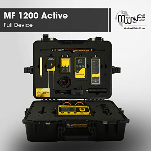 MWF 1200 Active Long Range Metal Detector - Professional Deep Seeking Detector with 3 Search Systems - Underground Depth Scanner and Treasure Finder - Discover Metal, Gemstones, and Diamonds