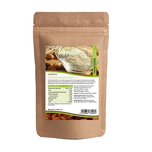 Mynatura - harina molida de almendras blancas 100 % (bajo contenido en carbohidratos, sin gluten,...