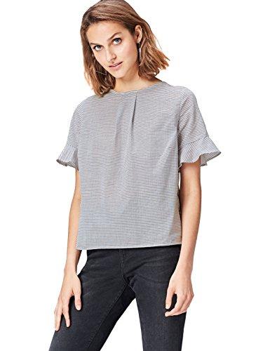 Marca Amazon - find. Blusa de Rayas para Mujer