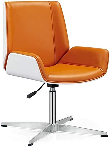 Rollsnownow High-Back Office Schreibtisch Stühle, ergonomisches Büro Stuhl- Ergonomische Schwenker Computer, Büro oder Computer Stuhl Sessel (Size : Orange)