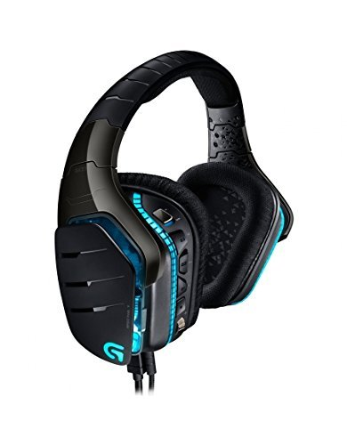 Logitech G633 Gaming Headset Artemis Spectrum Pro Wired 7.1 Surround Sound for PC, Xbox One and PS4 - Black (Generalüberholt)
