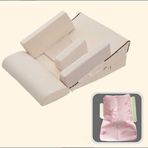 HMG Baby-Sofa Adjustable Kinder Childs Infant bewegliche Sitzstuhl-Gedächtnis-Schaum Werden Stillen Crate Box Sessel Sofa Klappbett, Größe: 3 Winkel Doppel Modell (10-15-25 Grad)