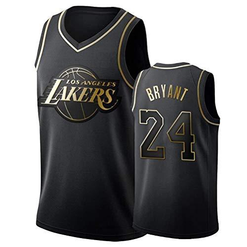 Jersey de Baloncesto de los Hombres # 8# 24 Kobe Bryant Haba de Los Ángeles Lakers Multi-Estilo Nueva Jersey Tela (Color : Black3, Size : S)