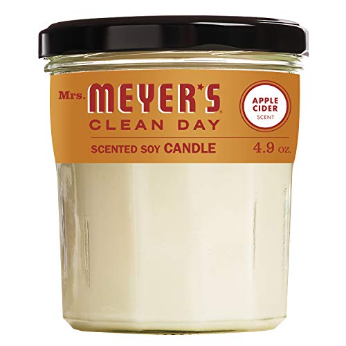 Mrs. Meyer's Clean Day Scented Soy Aromatherapy Candle, 25 Hour Burn Time, Made with Soy Wax, Apple Cider, 4.9 oz