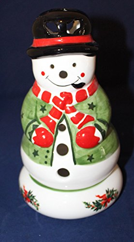 Pfaltzgraff Christmas Heritage Sculpted Pierced Snowman Holiday Lite