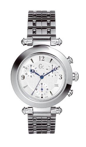 Guess Collection L`Etoile 26001G1 - Reloj analógico de caballero de cuarzo con correa de acero inoxidable plateada