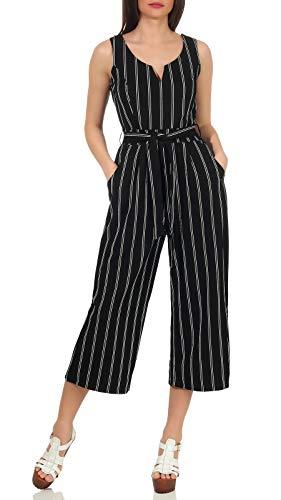 Aiki Keylook Jumpsuit voor dames, Sugar Walls, culotte-stijl, broekpak met strepen